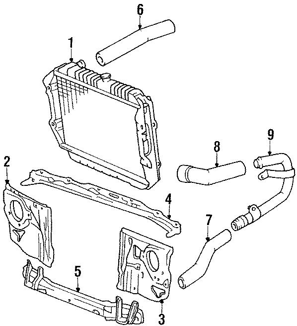 Toyota 4Runner Obs. Support, radiator, u. Upper tie bar