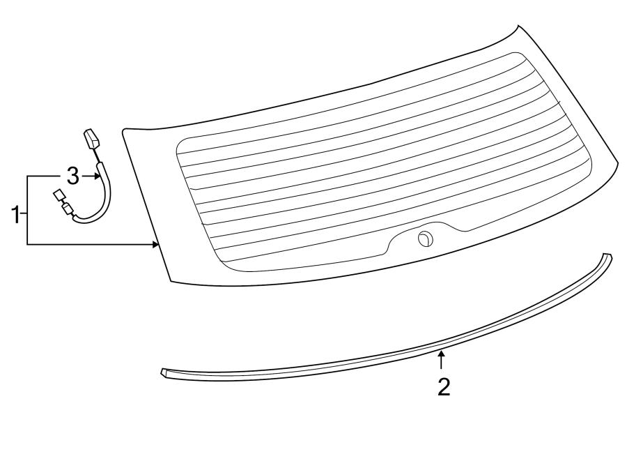 Toyota Matrix Wire, rear (rr) window, no. Wiring. Included