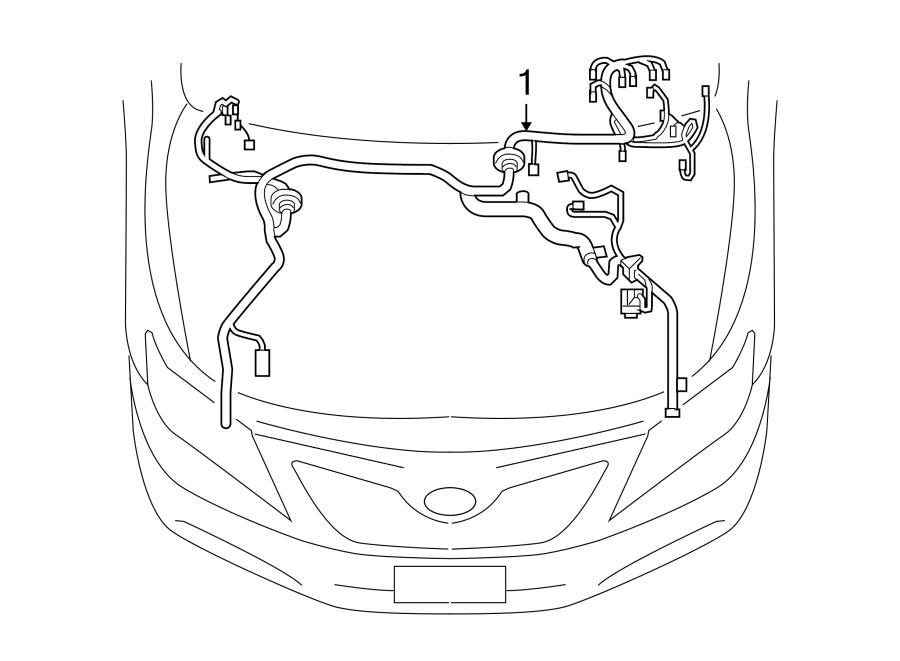 Toyota Venza Engine Wiring Harness. 2.7 liter, w/o power