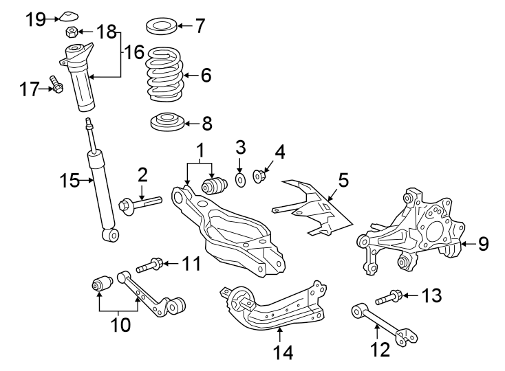 Toyota RAV4 Coil spring. Spring, coil, rear (rr). Rav4