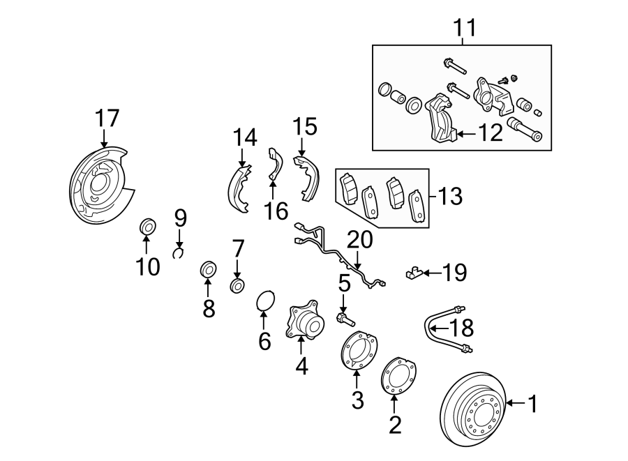 Toyota FJ Cruiser Sensor. Speed. ABS. Wheel Wiring Harness