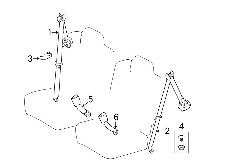 Toyota Highlander Seat Belt Lap and Shoulder Belt (Rear
