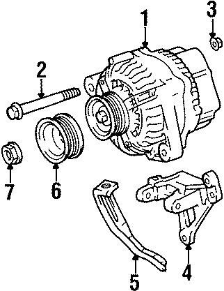 Toyota Celica Alternator Bracket. 2.2 liter. Gas. W/o GTS