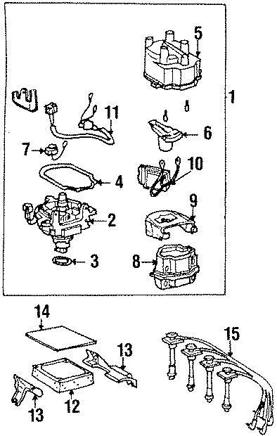 2001 Toyota Ecm bracket. Obs. 1.8 liter. 2.2 liter, 1994