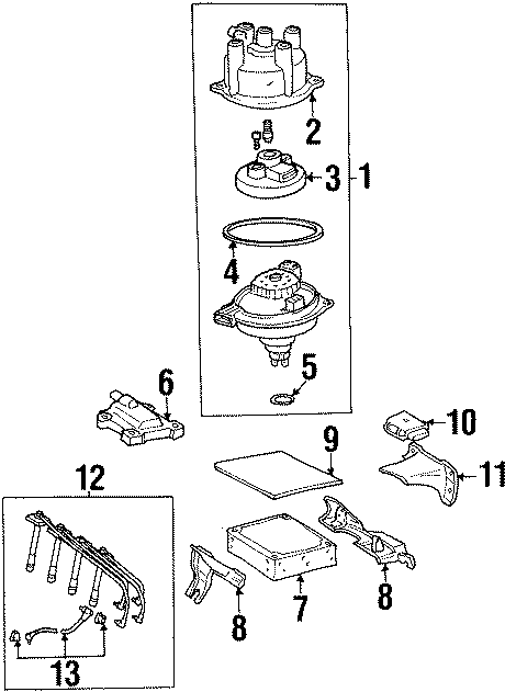 Toyota Celica Spark Plug Wire Set. LITER, California