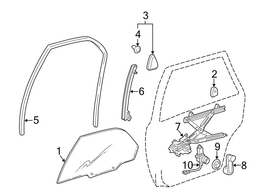Toyota Camry Corner cover. GARNISH, REAR (RR) DOOR REAR
