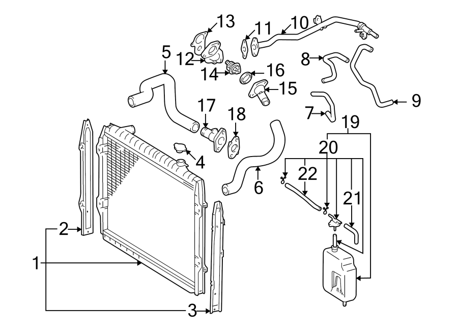 Toyota Tacoma Radiator Coolant Hose (Upper, Lower