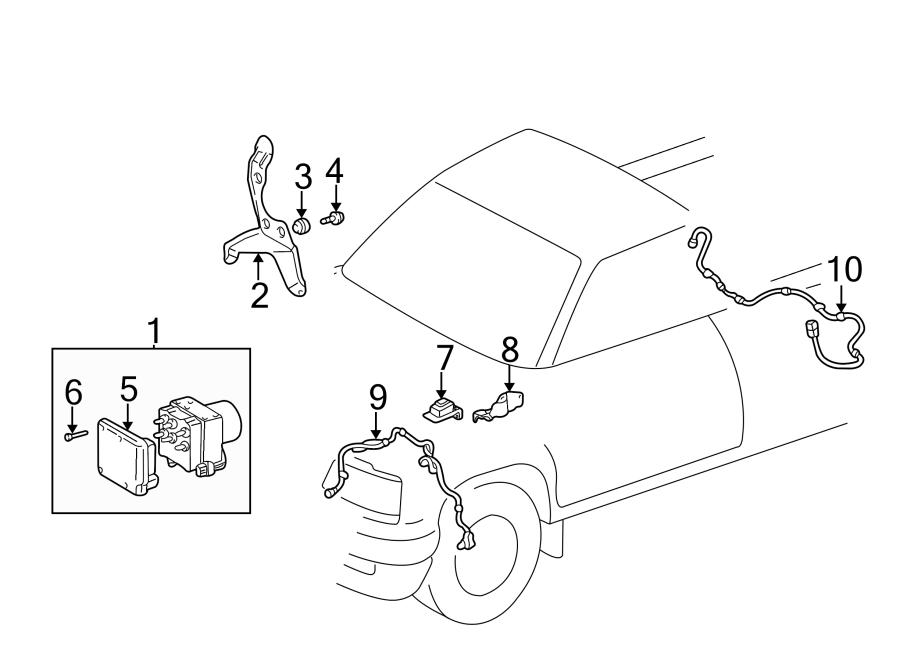 Toyota Tacoma Computer, skid contour. Control module