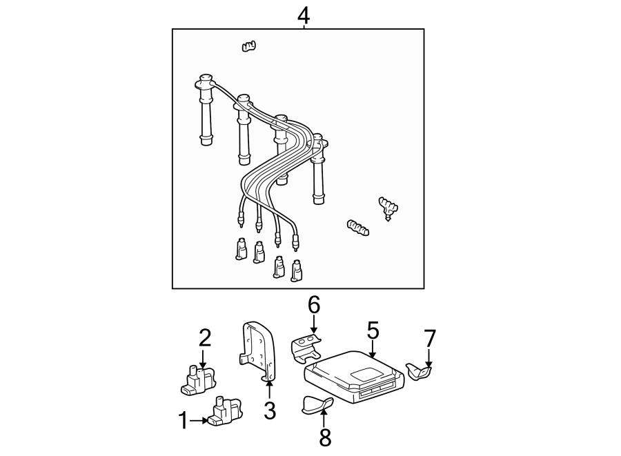 Toyota Tacoma Spark Plug Wire Set. LITER, Cylinder