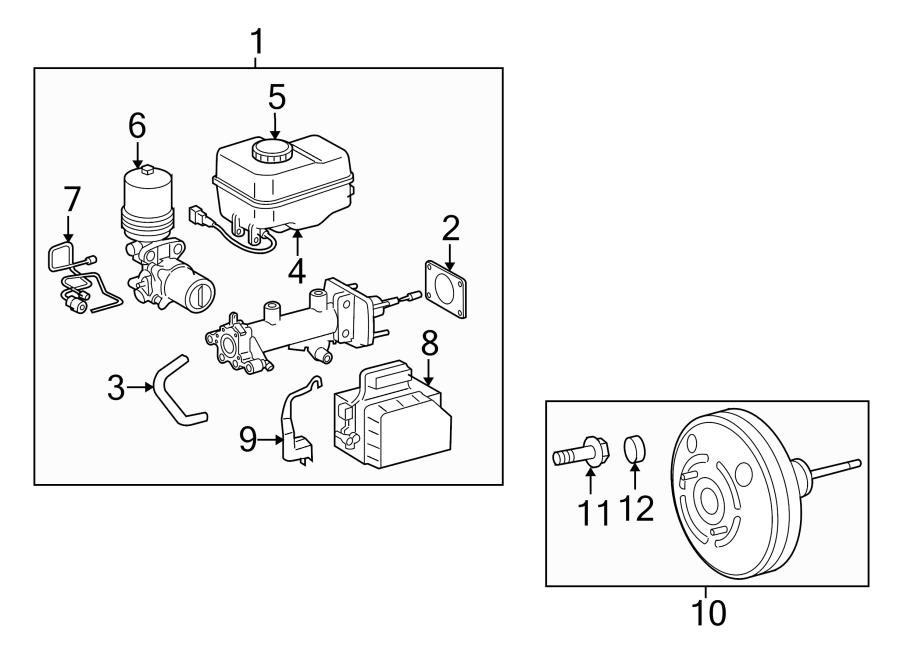 Toyota Tacoma Brake Master Cylinder Reservoir Cap. PANEL