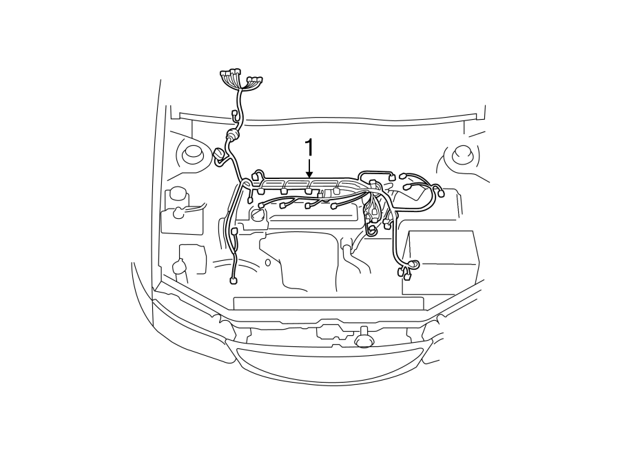 Toyota Solara Engine Wiring Harness. 2.4 LITER, auto trans