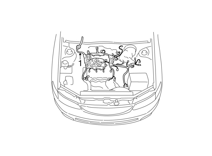 Toyota Solara Engine Wiring Harness. 3.0 LITER, auto trans