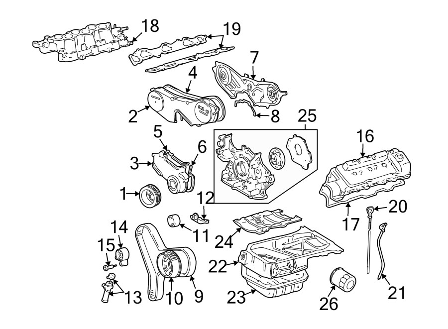 Toyota Highlander Engine Timing Cover (Front, Lower