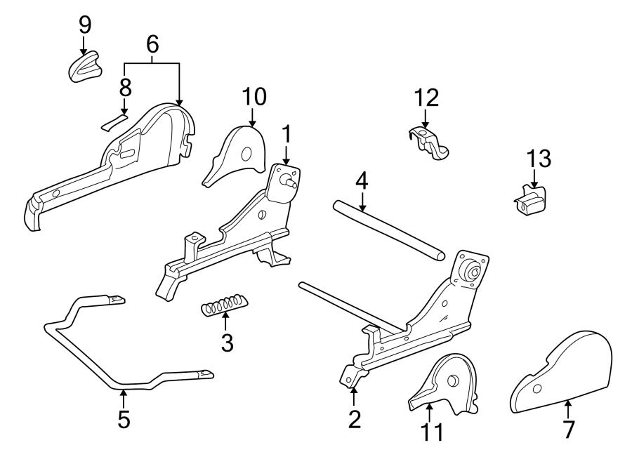 Toyota Solara Seat Back Recliner Adjustment Mechanism