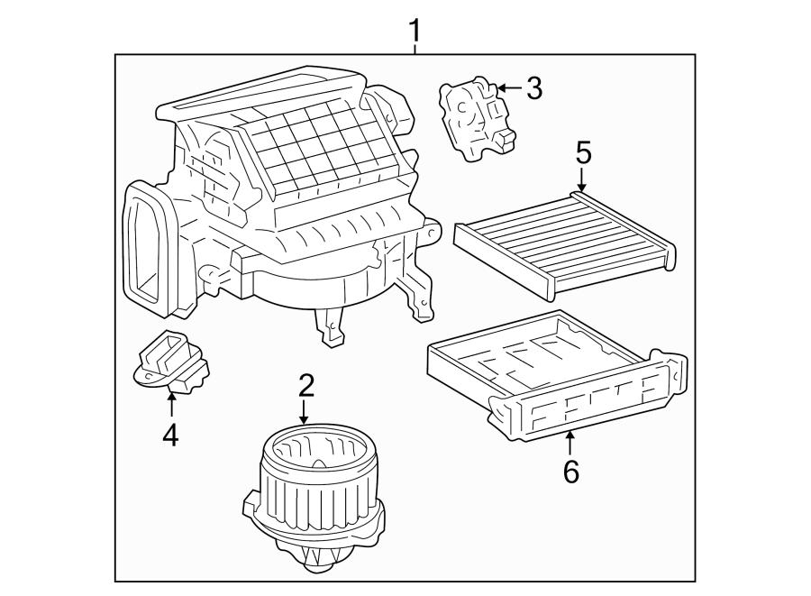 Toyota Camry Blower. Motor. Resistor. HVAC. Relay