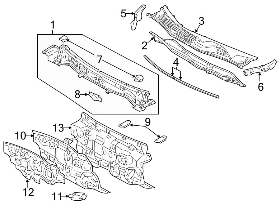 Toyota Avalon Engine Compartment Insulation. Inner