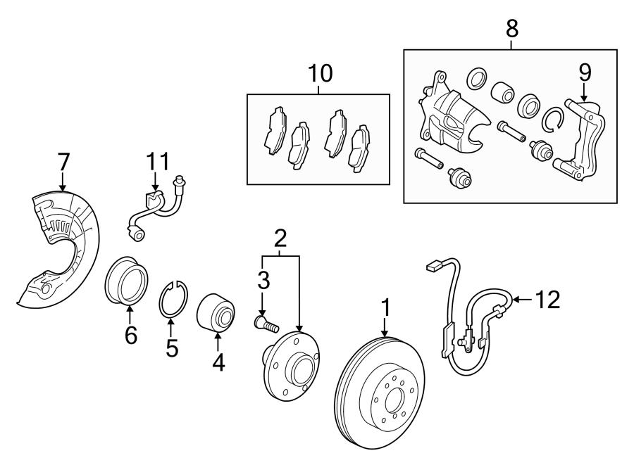 Toyota Avalon Abs wheel speed sensor. Left, brake