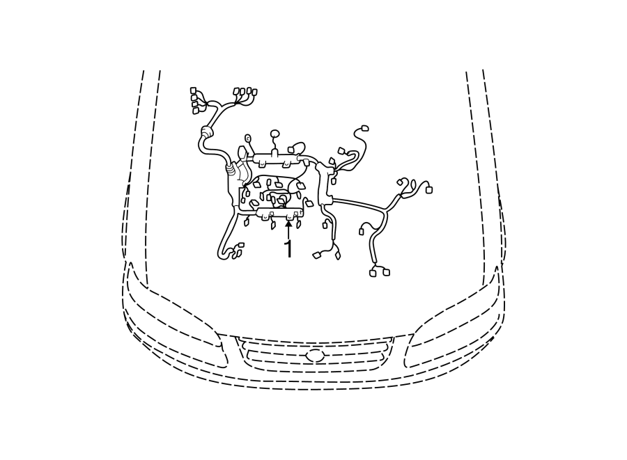 Toyota Camry Engine Wiring Harness. 3.0 & 3.3 LITER, 3.0