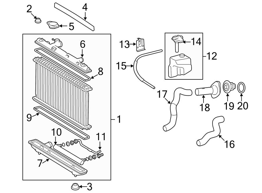 Toyota Camry Radiator Inlet Tank Seal. 2.4 LITER, US built