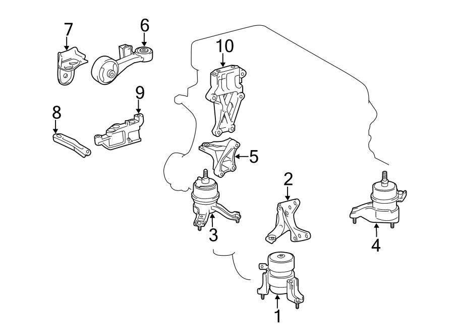 Toyota Camry Engine. Torque. Rod. 2.5 LITER. Arm. Control