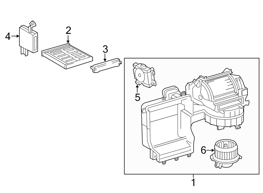 Toyota Camry Blower ASSEMBLY. HVAC Blower Case Assembly