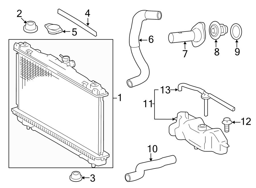 Toyota Camry Radiator Insulator (Left, Upper, Lower). 2.5