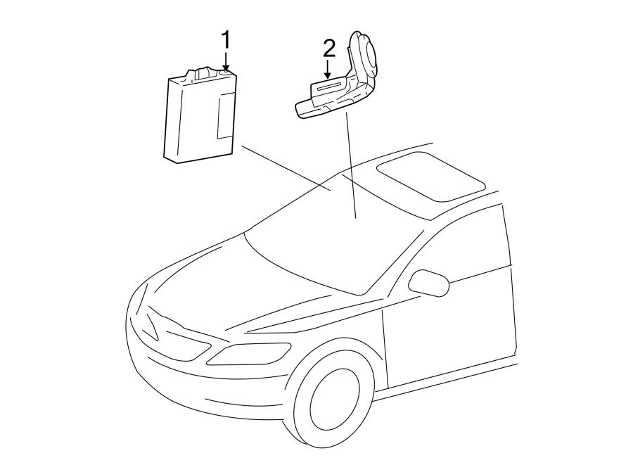 Toyota Camry Ignition Immobilizer Module. TRANSPONDER KEY