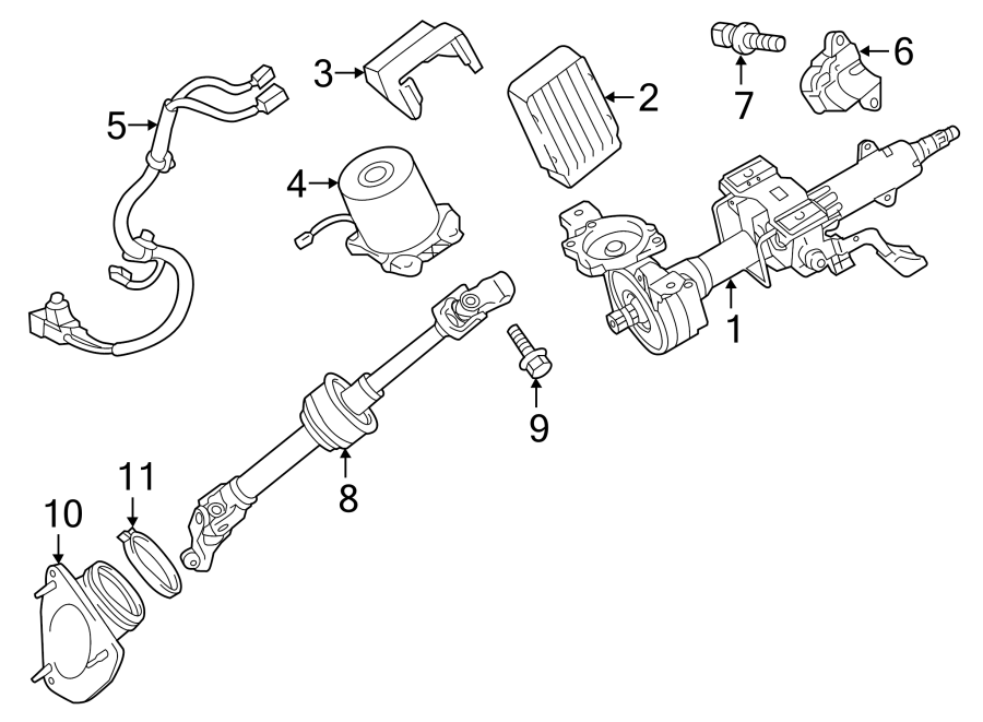Toyota Camry Control. Module. Computer. Steering. Assembly