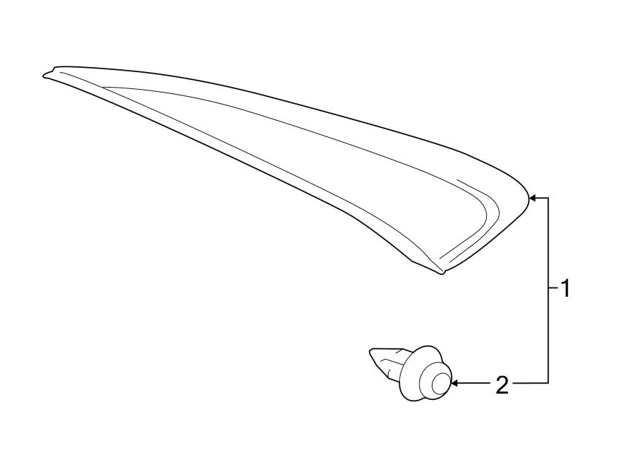 Toyota Camry Body C-Pillar Molding. TRIM, Right, QUARTER