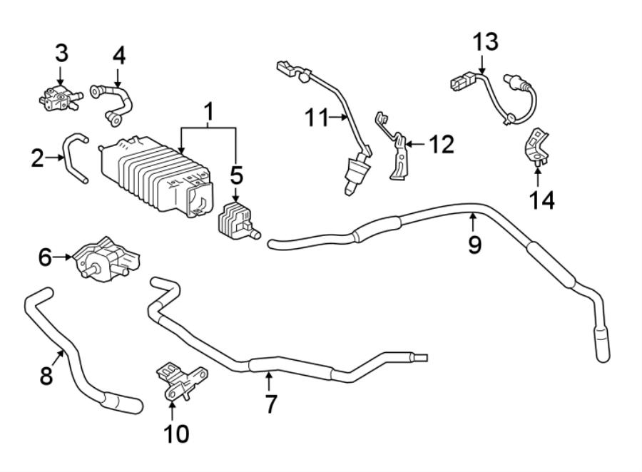 Toyota RAV4 Vapor Canister Purge Solenoid. EMISSION