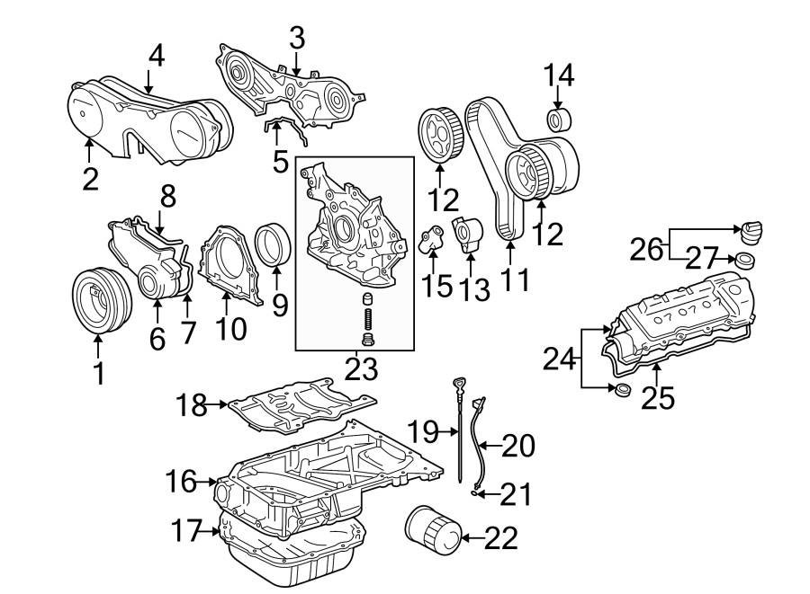 Toyota Sienna Engine Timing Cover (Front, Lower