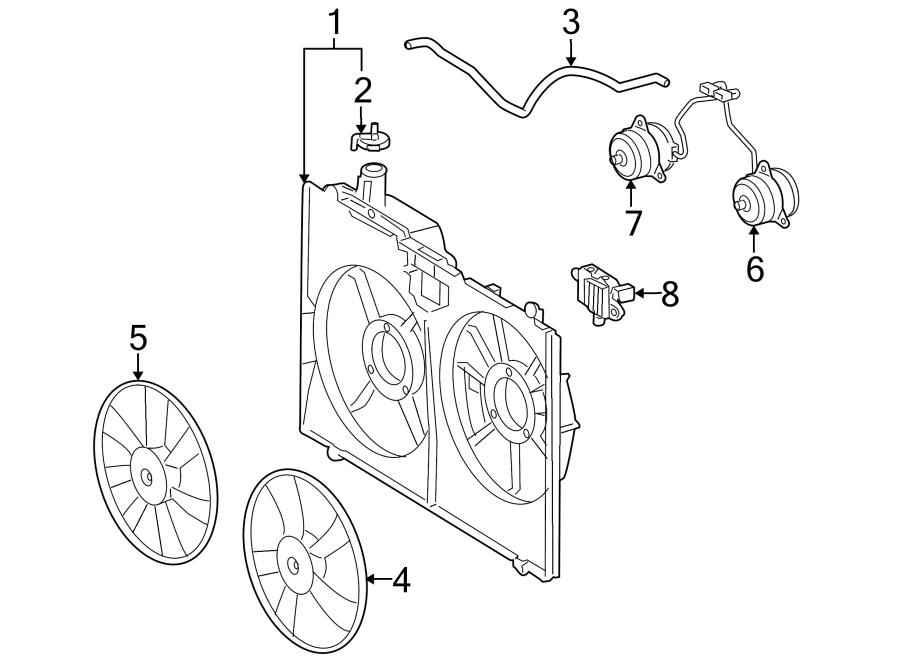 Toyota Sienna Engine Cooling Fan Shroud. Make, RADIATOR