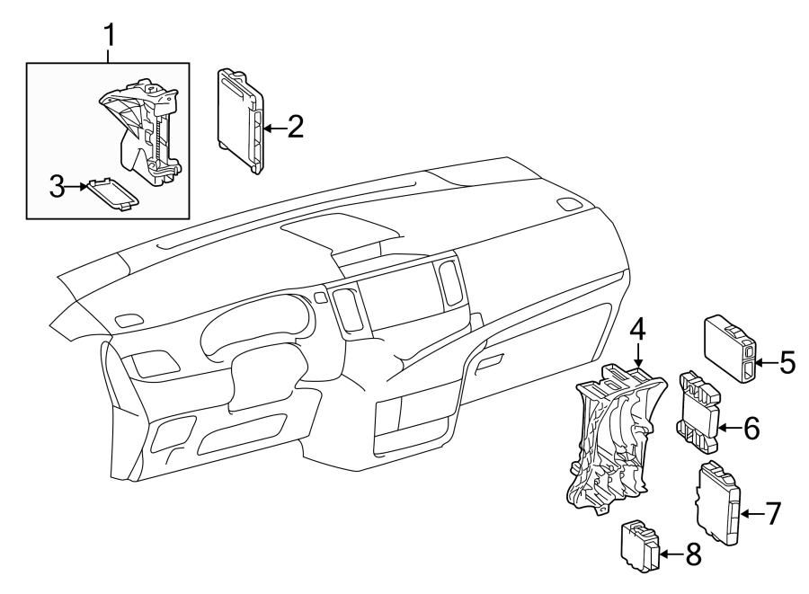 Toyota Sienna Box, computer integr. Control box. Fuse box