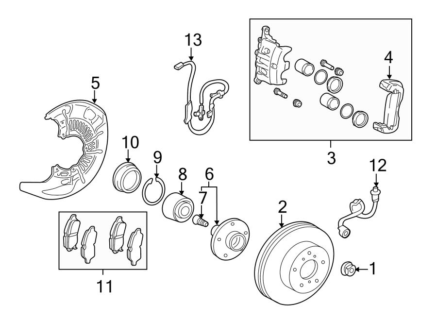 Toyota Sienna Abs wheel speed sensor. Brake, components