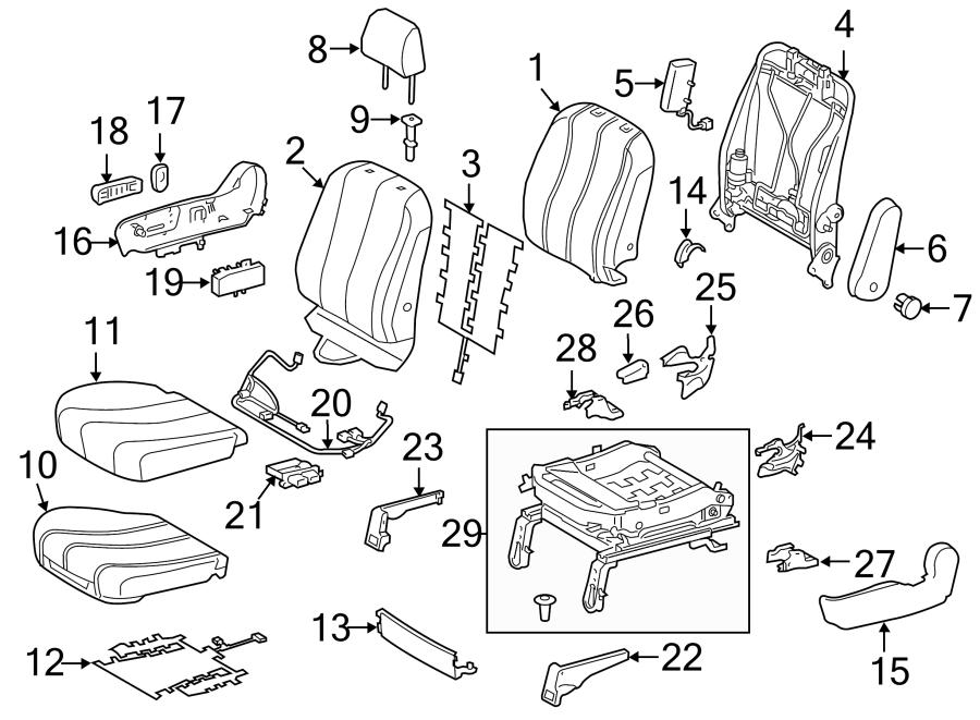 Toyota Sienna Power Seat Wiring Harness. PASSENGER SEAT