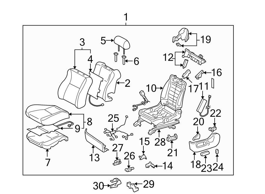 Toyota Solara Seat Cushion Foam. DRIVER, CONVERTIBLE