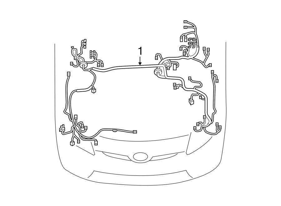 Toyota Prius Plug-In Engine Wiring Harness. W/Plug-in, w/o