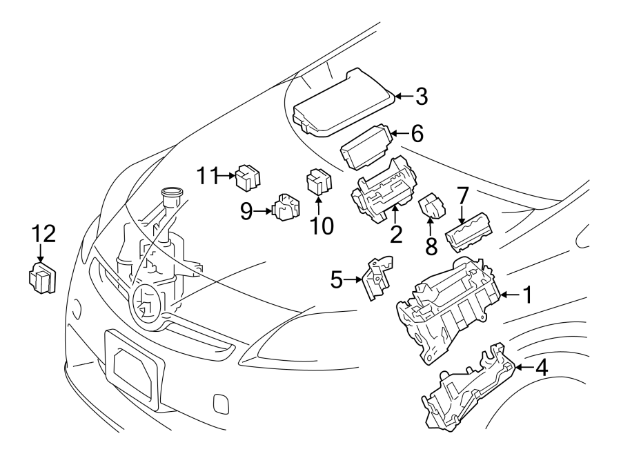 Toyota Prius v Cover. Relay. Fuse. Box. BLOCK. And Center