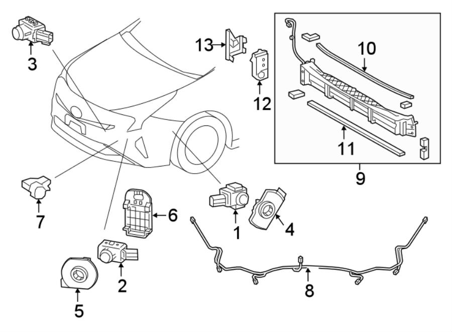 Toyota Prius Radiator Shutter Assembly. 2016-18. 2016-18
