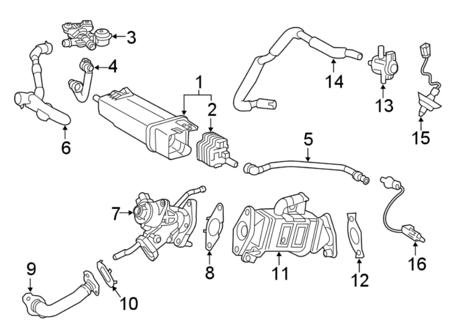 2015 Toyota Corolla Solenoid. Valve. Fuel. Vent. Canister