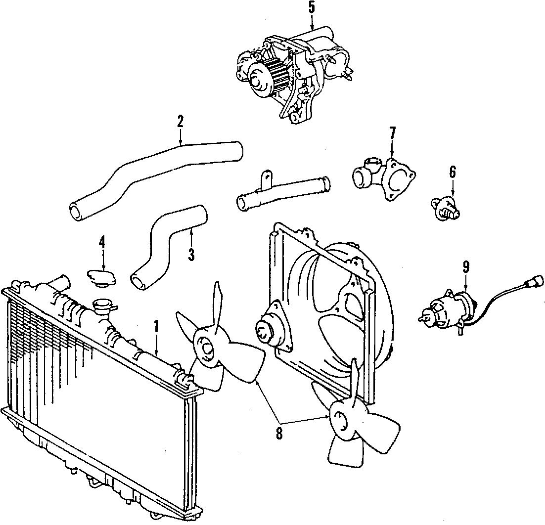 Toyota Camry Hose, radiator, no.2. Obs. (lower). Camry; 6