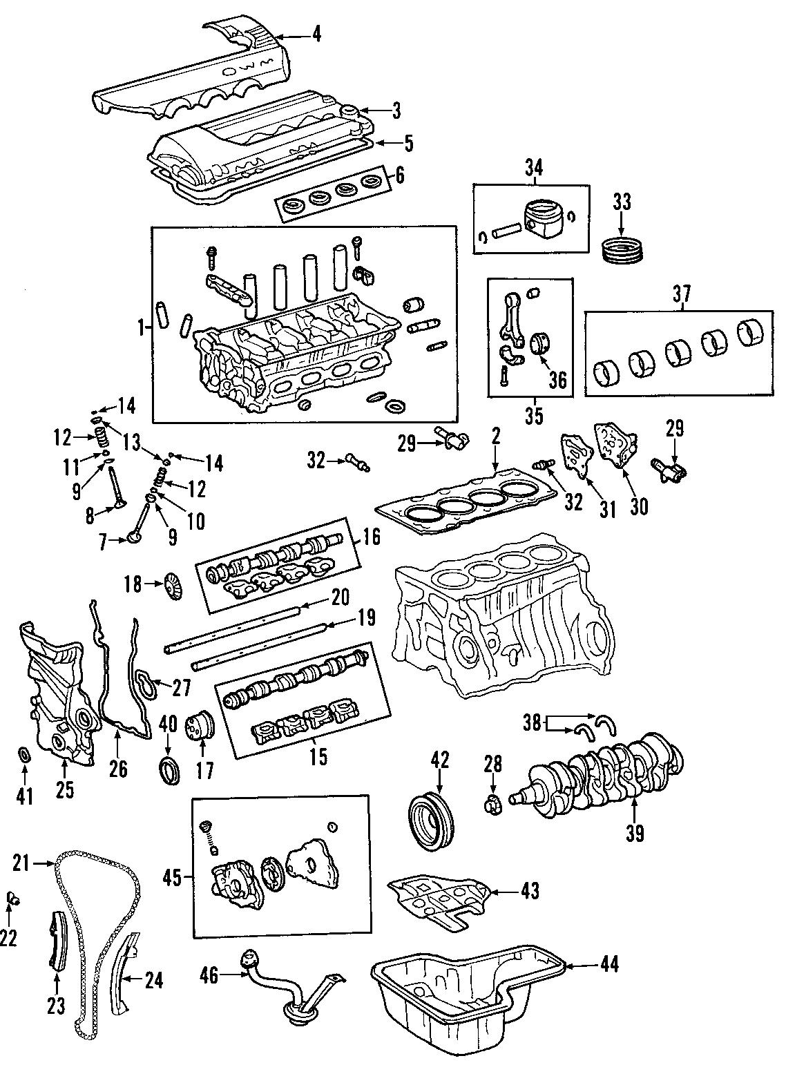 Toyota Corolla Engine Short Block