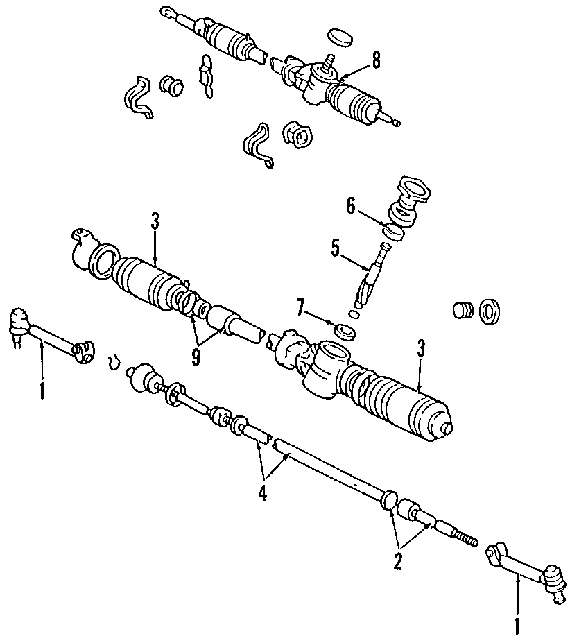 Toyota Corolla Bearing, Radial Ball. Bearings. (Upper