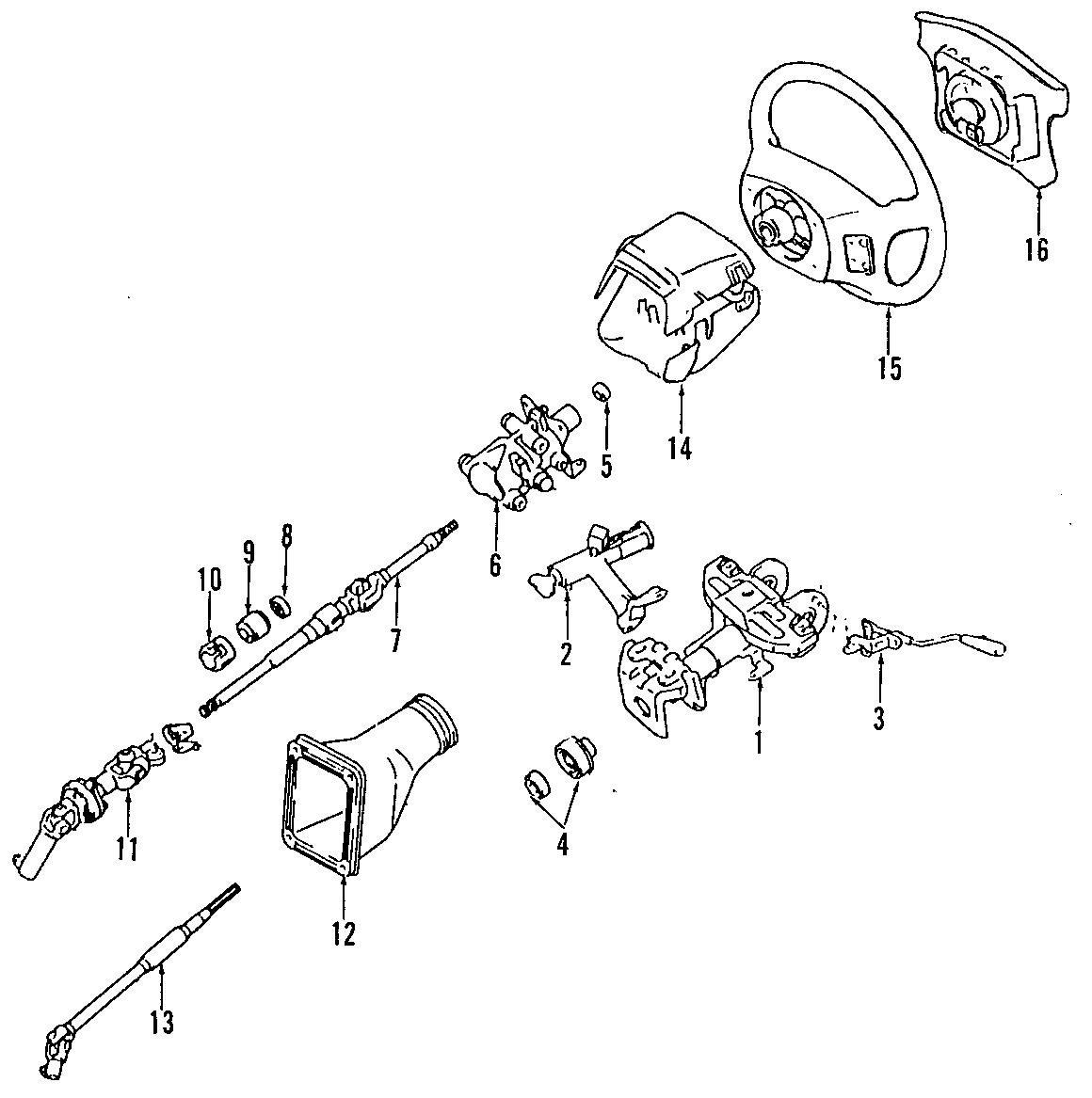 Toyota Supra Steering Shaft (Lower). MANUAL TILT. POWER