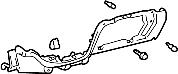 Toyota Tundra Instrument Panel Cover (Lower). Moon mist