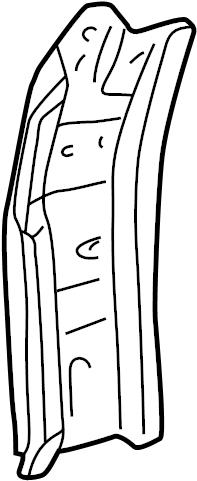 Toyota Tundra Body A-Pillar. ACCESS CAB, lower. REGULAR