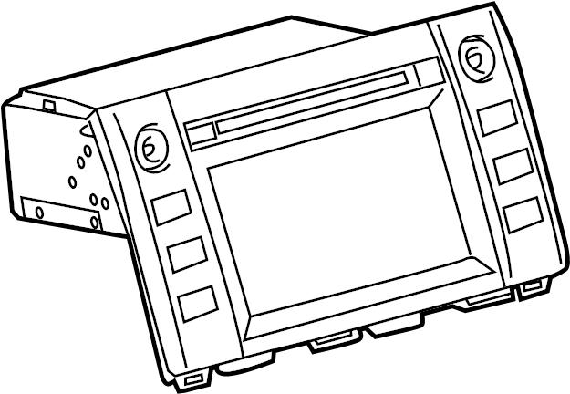 Toyota Tundra Radio Control Unit. ID# 57073. SYSTEM, SOUND