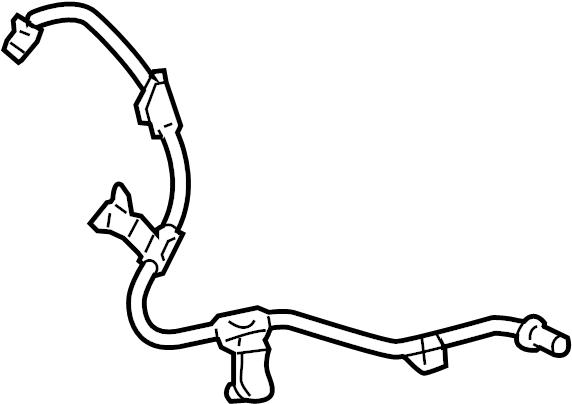 Toyota Yaris Abs wheel speed sensor wiring harness. Disc