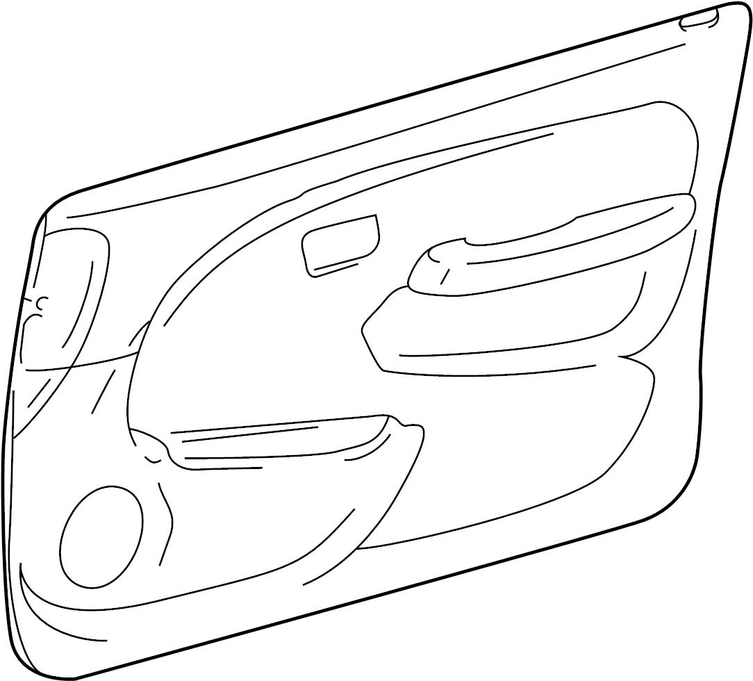 Toyota 4Runner Door Interior Trim Panel. MANUAL WINDOWS