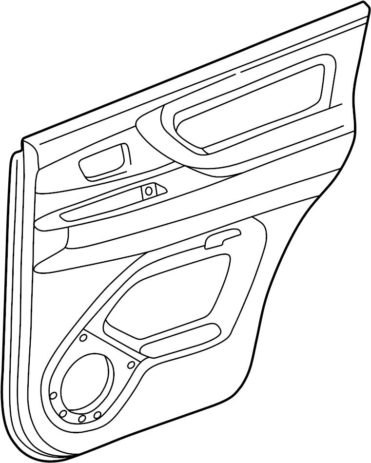 Toyota Land Cruiser Door Interior Trim Panel. W/leather